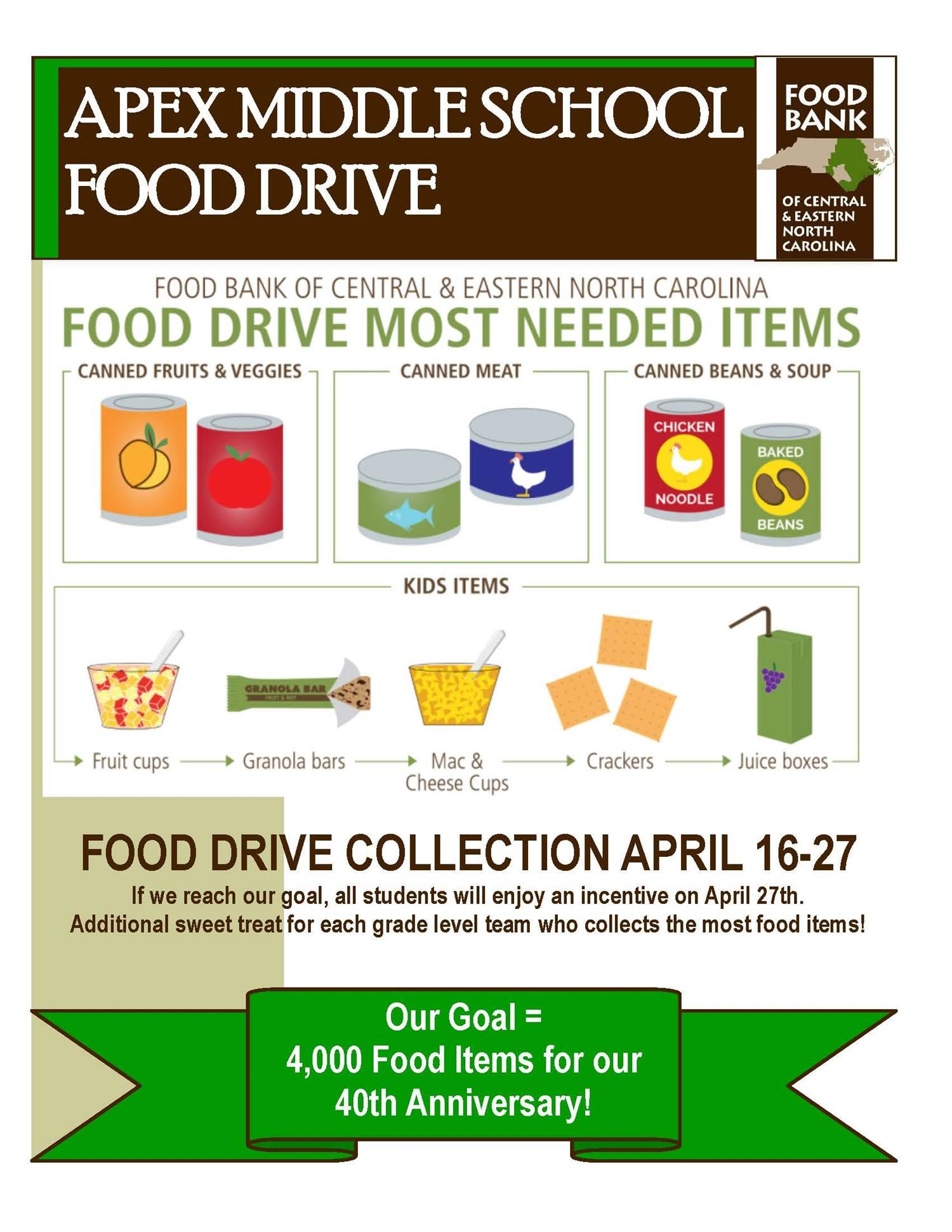 FINAL WEEK:  AMS Will Collect Items For