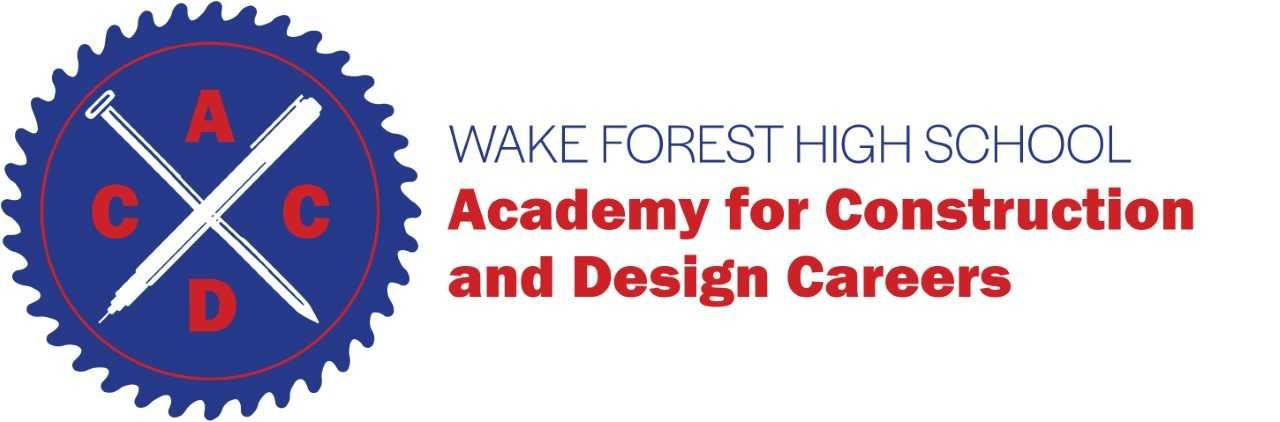 Wake Forest High School Academy for Construction and Design Careers (ACDC) Logo