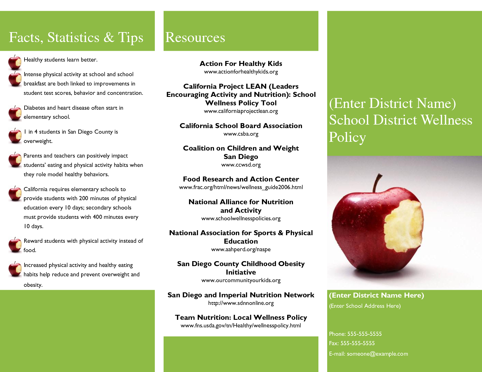 7 2 3 science media notes for Nutrition brochure template