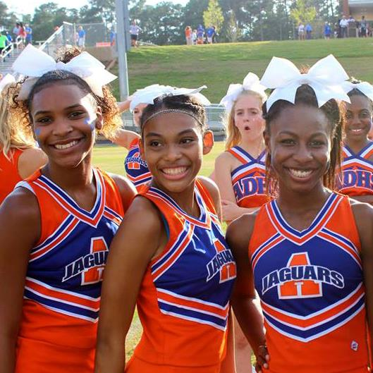 photo of Athens Drive High cheerleaders