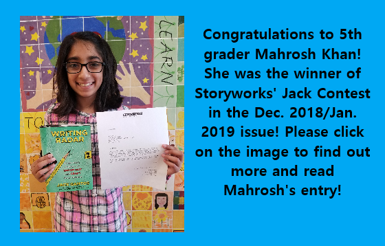 Congratulations to 5th Grader Mahrosh Khan!