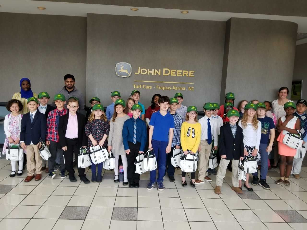 Combs Jr. FIRST LEGO league visits the John Deere Plant