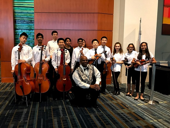 Orchestra Students Perform at Public School Forum