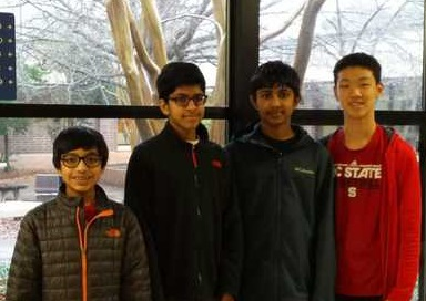 MATHCOUNTS Team Wins 1st Place at the Chapter Meet