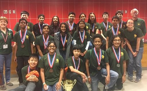 Science Olympiad Team Wins 2nd Place in the State