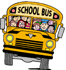 a graphic with children on a bus