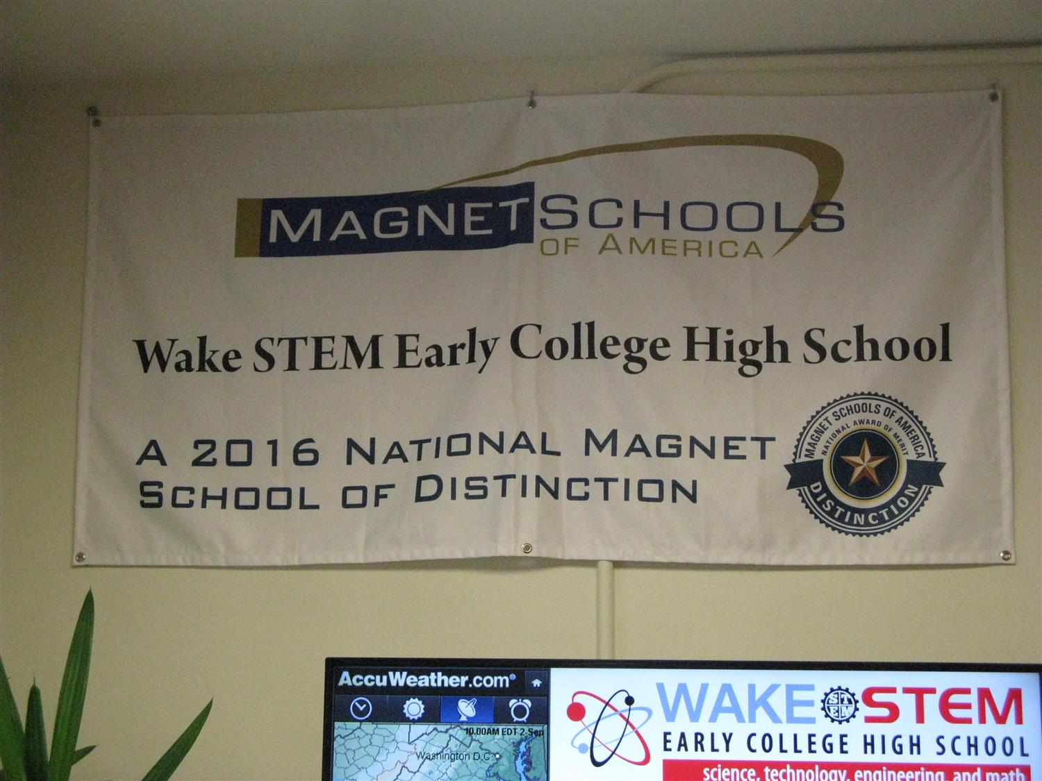"Wake STEM ECHS recognized as ""School of Excellence"" by Magnet Schools of America"