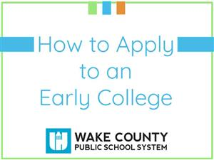 How to apply to an early college