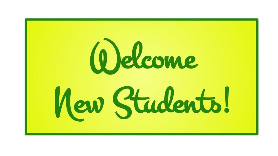 2018-2019 New Student Welcome