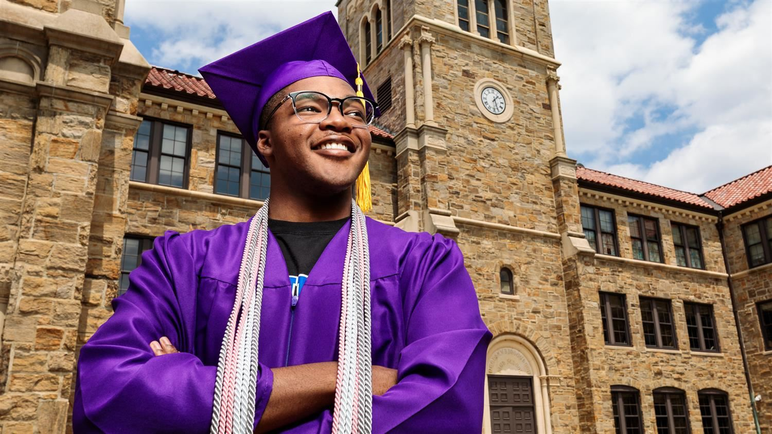 Broughton graduate Brevyn Belfield in cap and gown