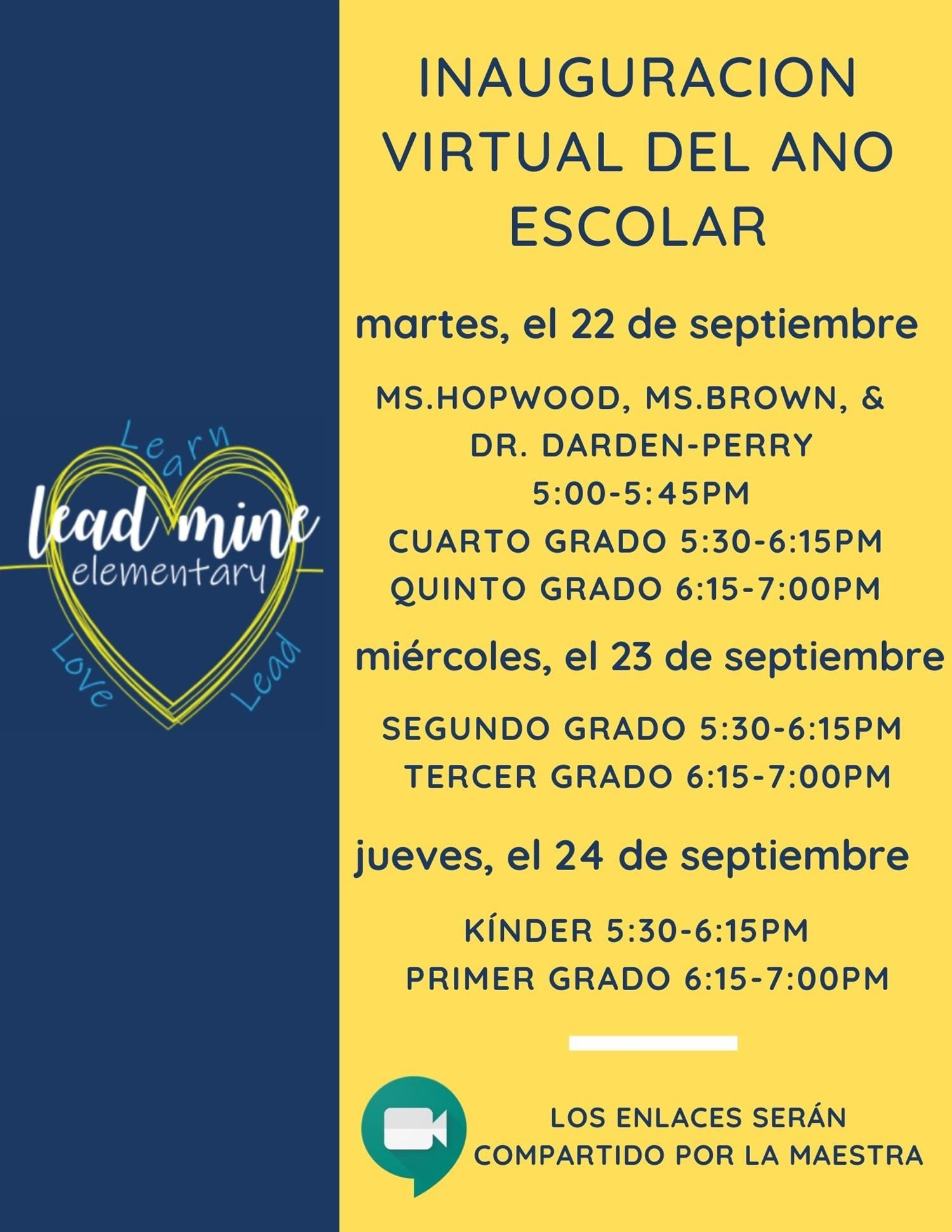 Virtual Open House Events! Spanish
