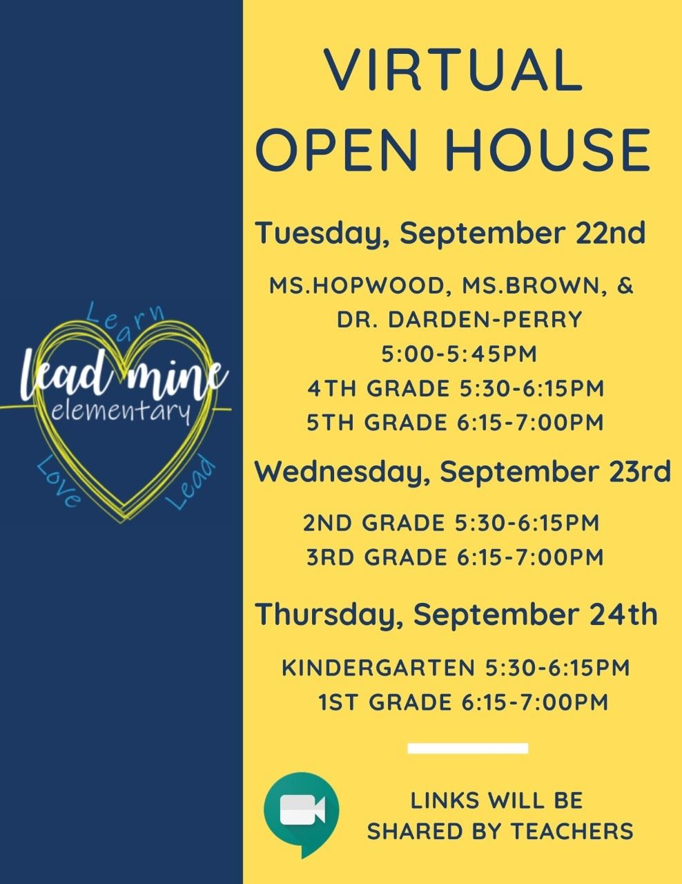 Virtual Open House Events! English