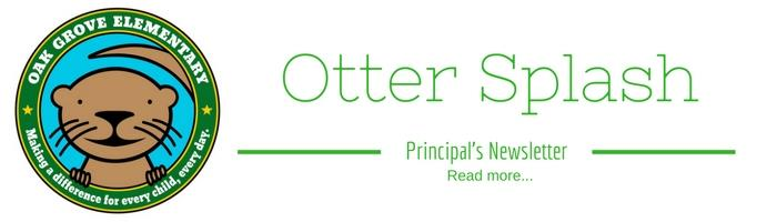 Read the latest Otter Splash Newsletter from Ms. Jarman!