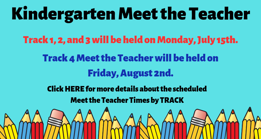 Kindergarten Meet the Teacher 2019-2020