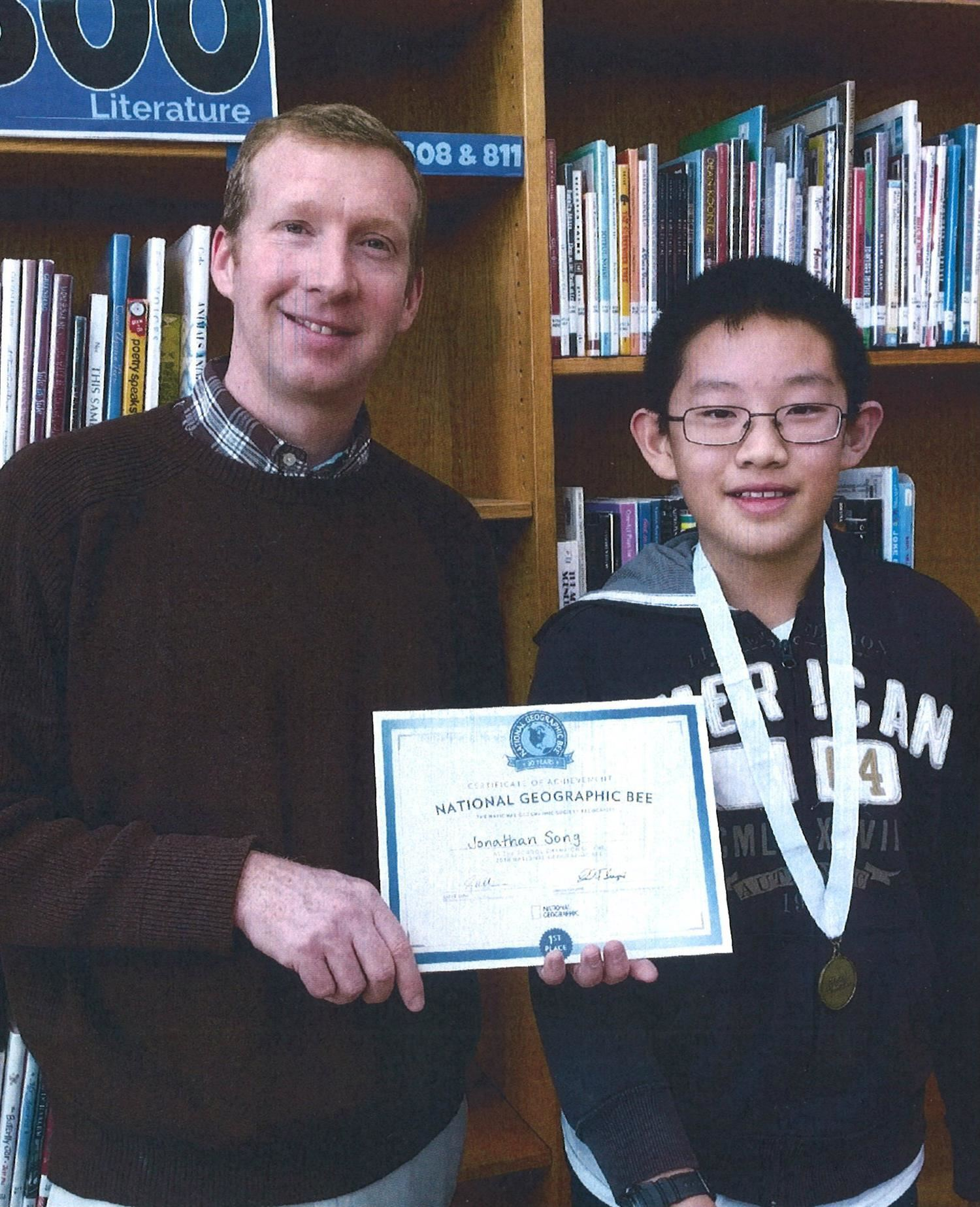 Jonathan Song wins North Carolina Geography Bee, takes 6th nationally