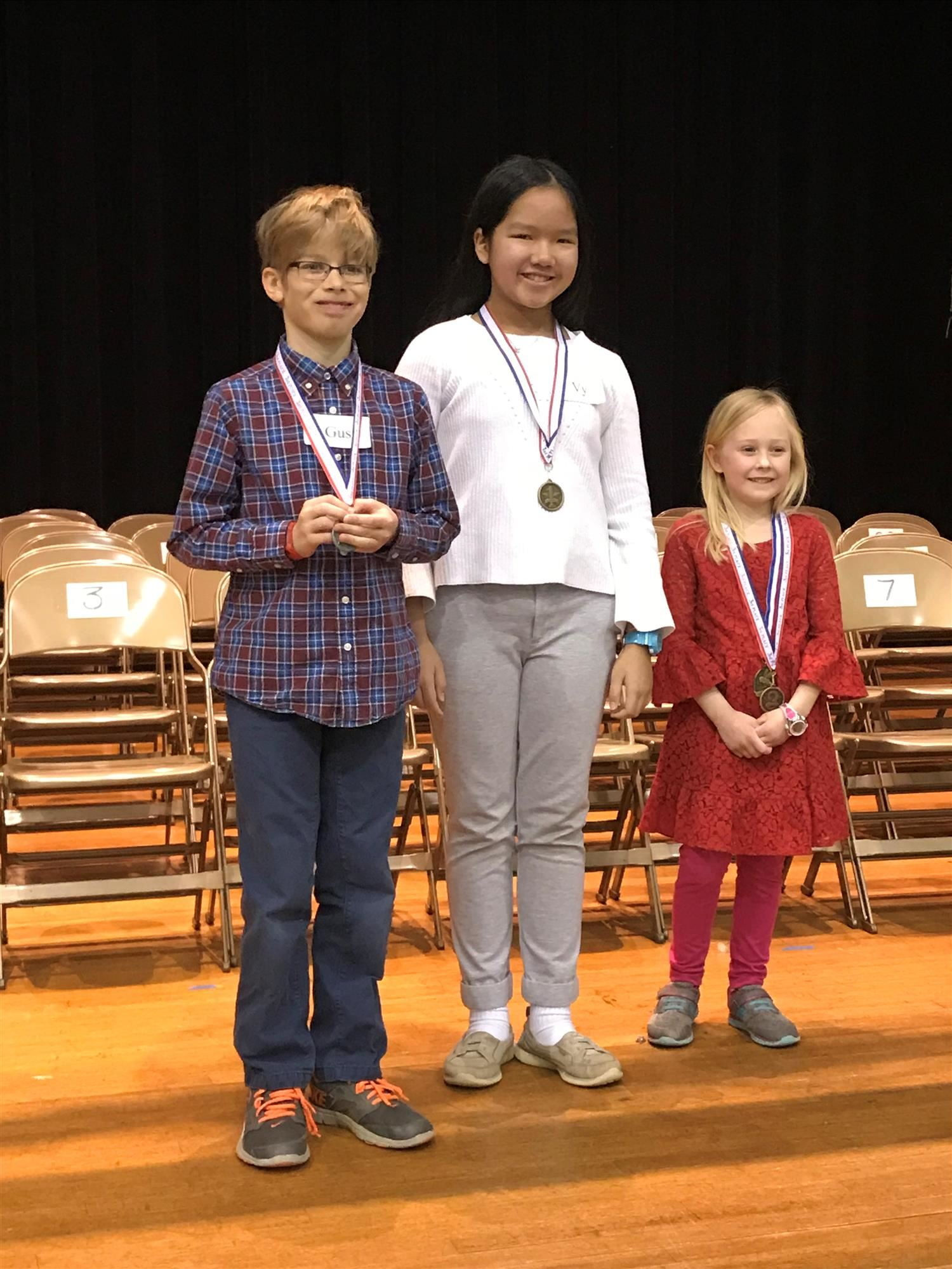 LES 2018 Spelling Bee Winnders