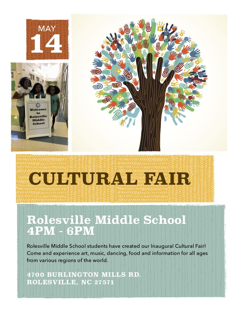 Join us for the first RMS Cultural Fair!