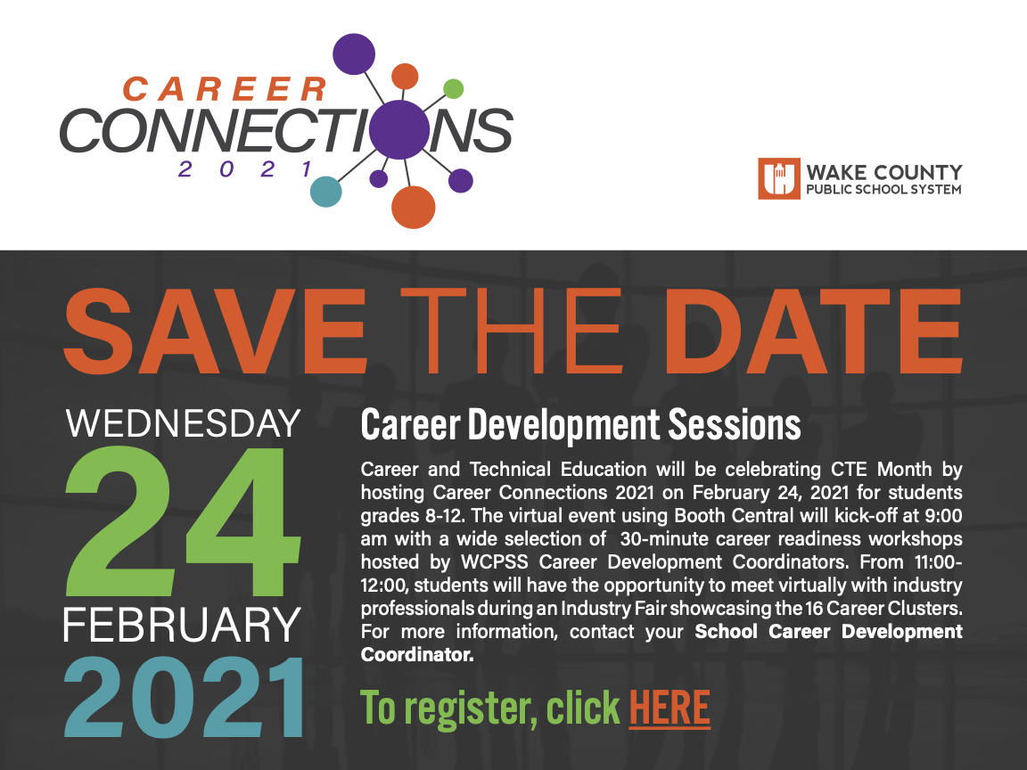 Save the date for career development sessions