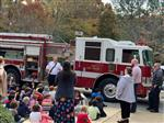 Kindergarten and the fire truck