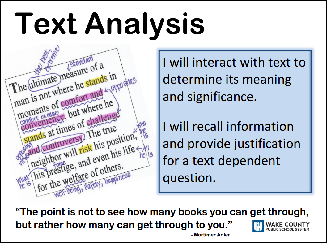 the analysis of the text may A critical analysis is subjective writing because it expresses the writer's opinion or evaluation of a text analysis means to break down and study the parts.