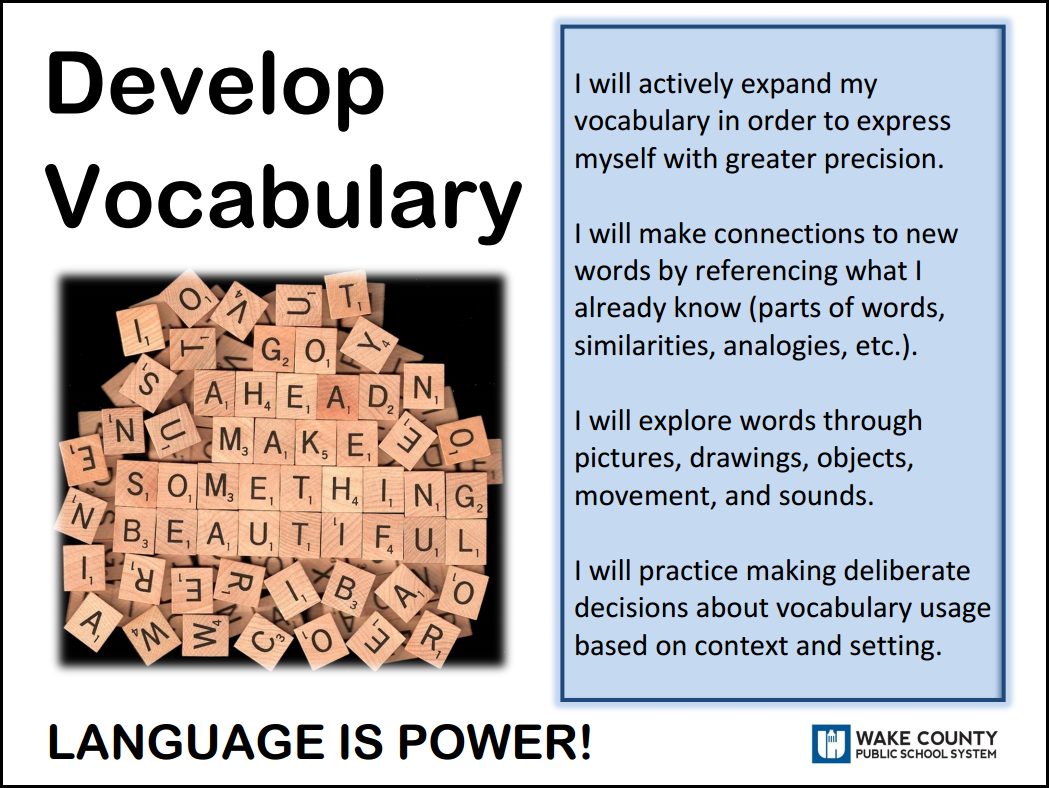 develop vocabulary