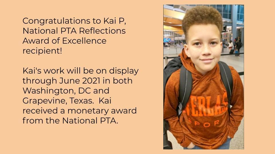 Kai P Reflections Award