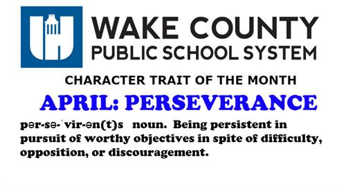 WCPSS Character Trait: April