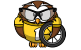 Owl with tire