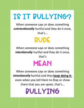 rude mean bullying