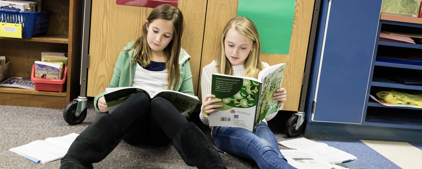 Image of girls reading