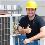Picture of HVAC technician