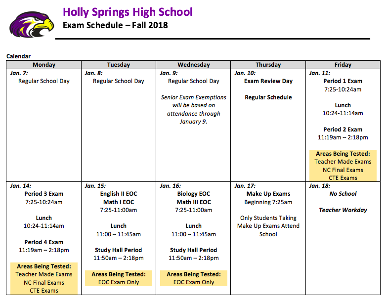 Holly Springs High Homepage