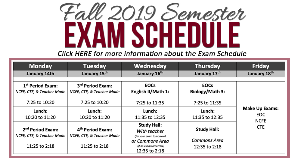 Schedule Change Requests Fall Exam